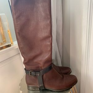 Authentic Lanvin Leather Knee High Boots